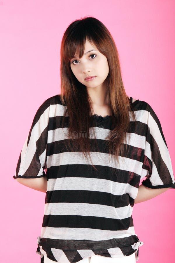 Het portret van het Chinese meisje. stock afbeeldingen
