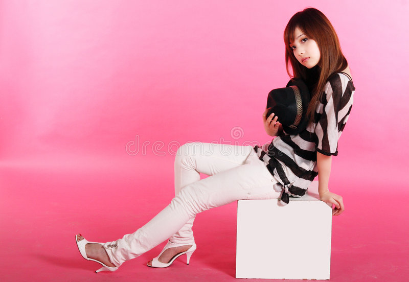 Het portret van het Chinese meisje. royalty-vrije stock foto's