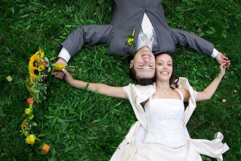 Het portret van het huwelijk stock foto