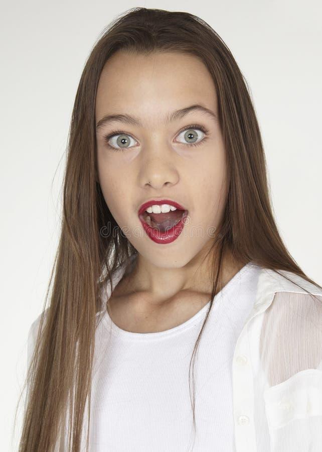 Het Portret van het tienermeisje stock foto's