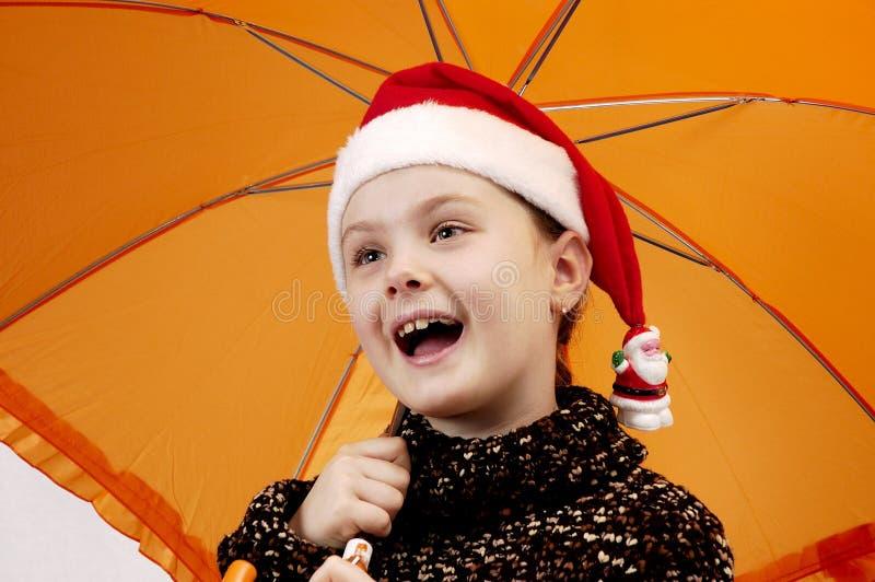 Het portret van Kerstmis van meisje 2 royalty-vrije stock afbeelding