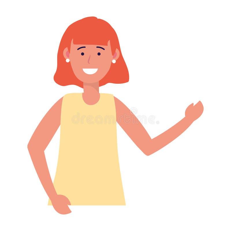 Het portret van het kindmeisje stock illustratie