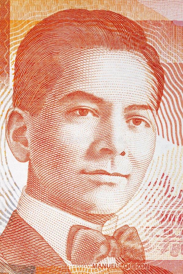 Het portret van Manuelluãs Quezon stock foto's