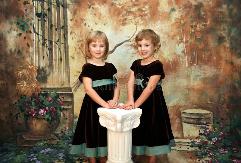Het Portret van meisjes stock afbeelding