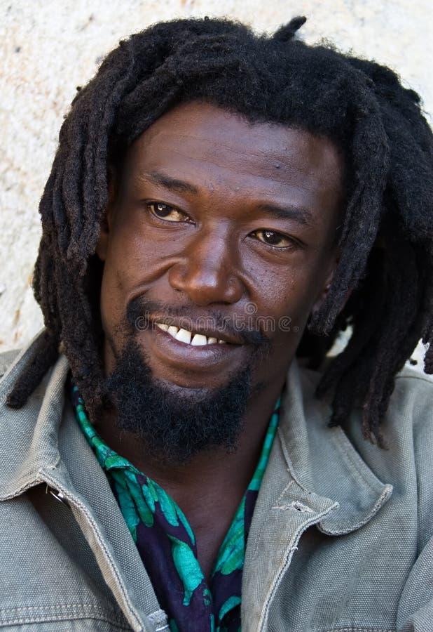 Het portret van Rastafarian royalty-vrije stock afbeeldingen