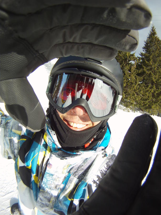 Het portret van Snowboarder royalty-vrije stock fotografie