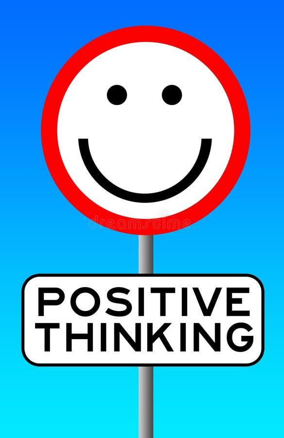 Het positieve Denken stock illustratie