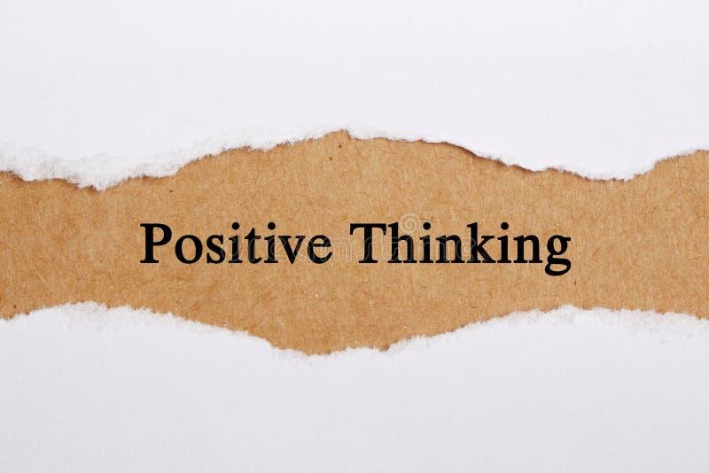 Het positieve Denken stock fotografie
