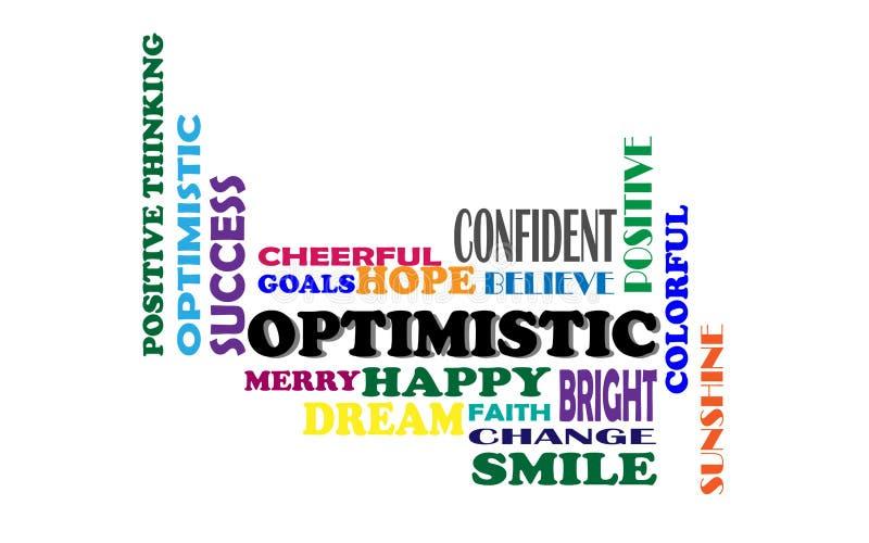 Het positieve Denken, Vectorillustratie stock illustratie