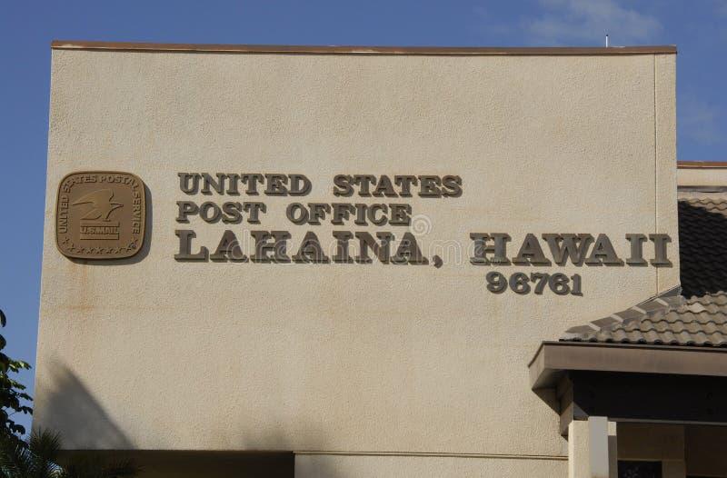 HET POSTKANTOOR _HAWAII VAN VERENIGDE STATEN stock afbeelding