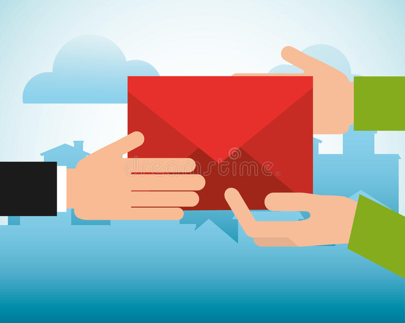 Het postontwerp van de postdienst vector illustratie