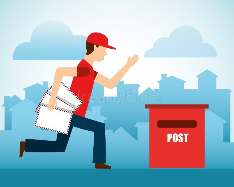 Het postontwerp van de postdienst stock illustratie