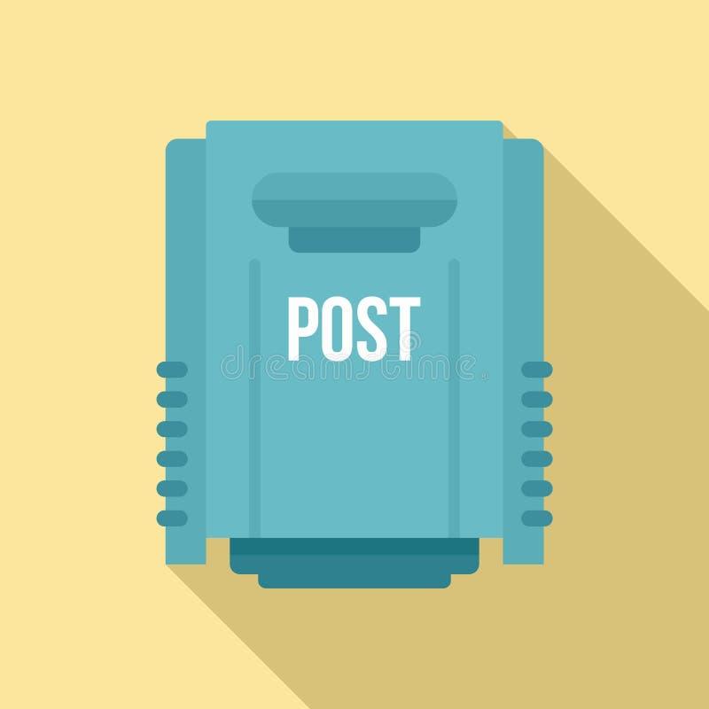 Het postpictogram van de huisdoos, vlakke stijl vector illustratie