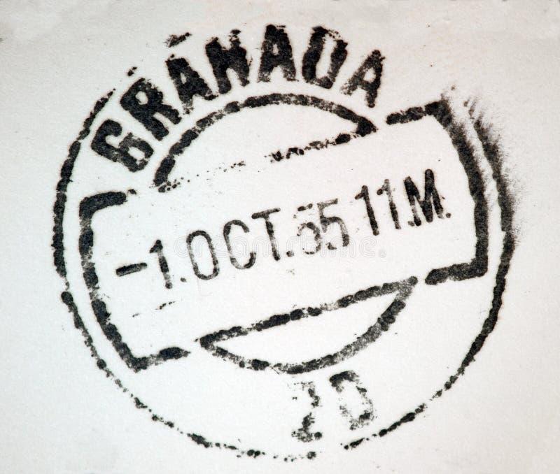 Het Poststempel van Granada Spanje stock afbeelding