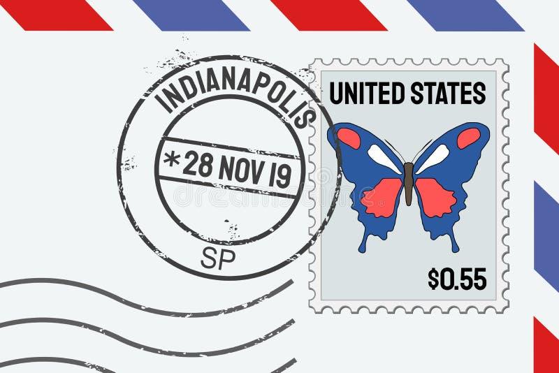 Het poststempel van Indianapolis royalty-vrije illustratie