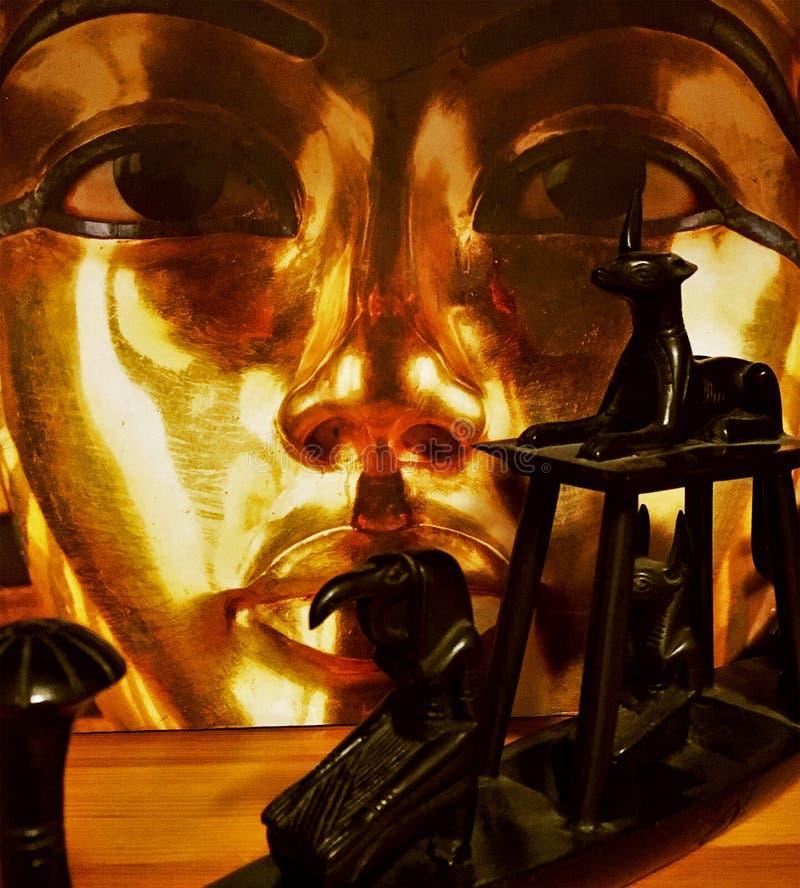 Het postume masker van faraotutankamona, royalty-vrije stock foto