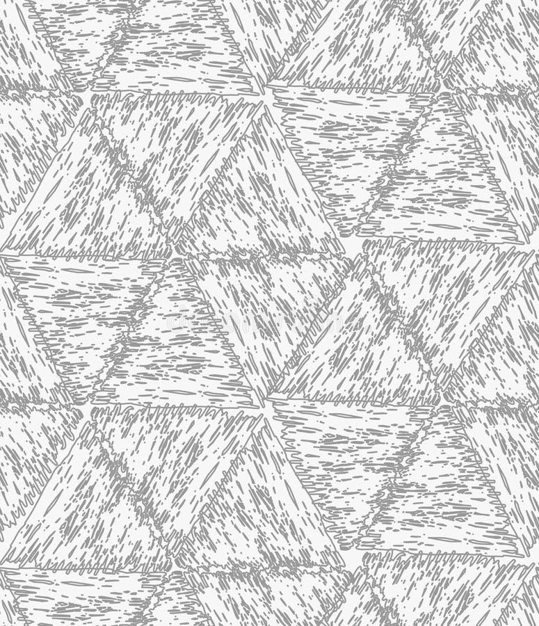 Het potlood broedde grijze zeshoeken uit stock illustratie