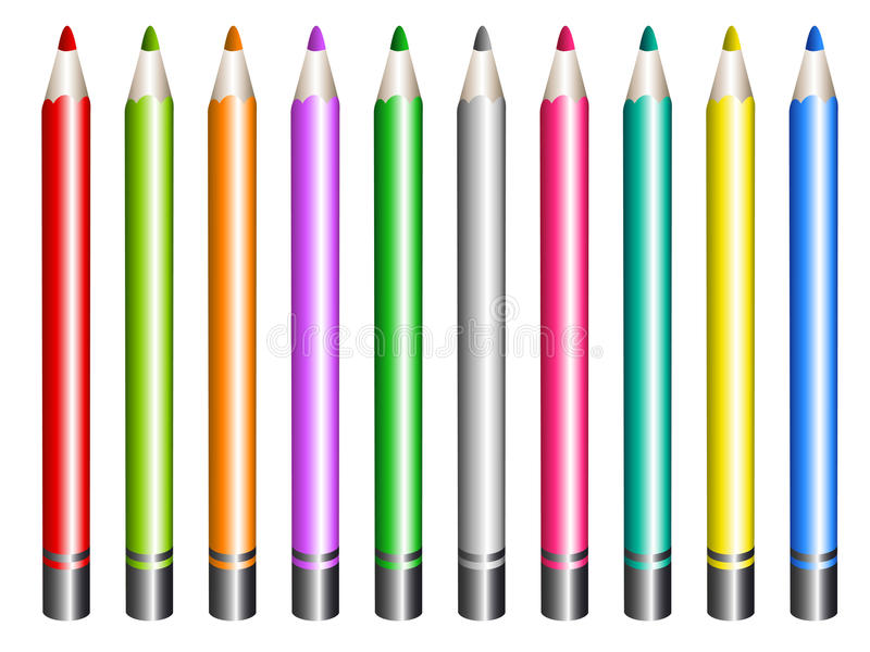 Het potlood van de kleur royalty-vrije illustratie