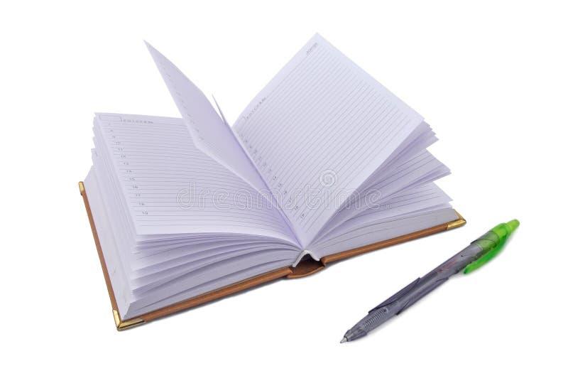 Het potlood van het notitieboekje stock fotografie