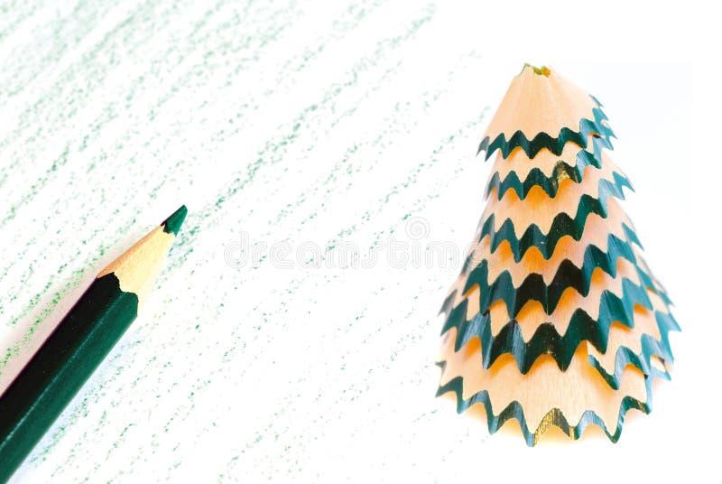 Het potlood van Kerstmis stock afbeeldingen