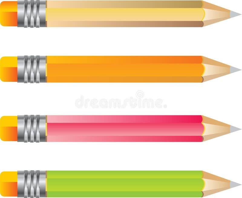 Het potloodreeks van de kleur stock illustratie