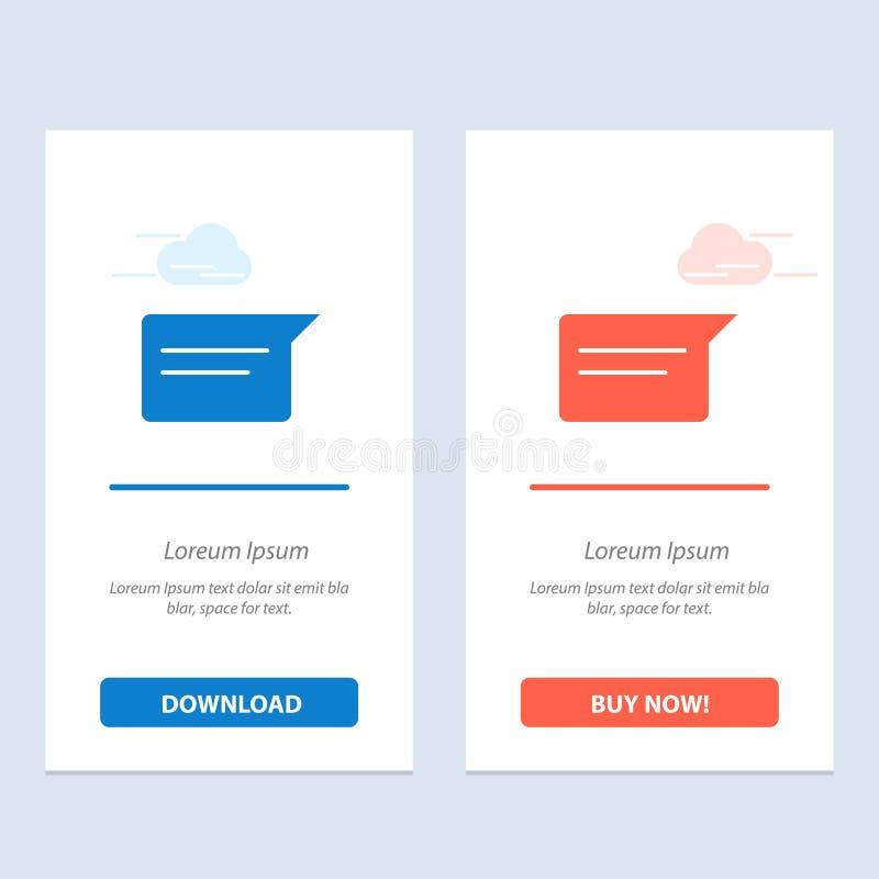 Het praatje, Basis, het Babbelen, de Blauwe en Rode Download van Ui en kopen nu de Kaartmalplaatje van Webwidget vector illustratie