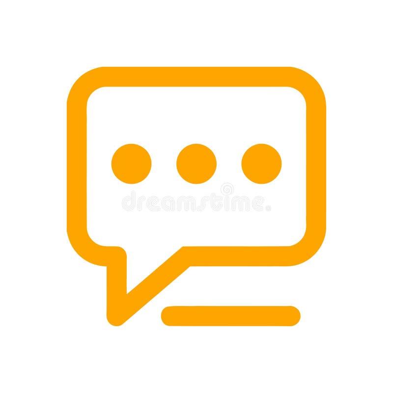 Het praatjepictogram, sms pictogram, praatje, bel, commentarenpictogram, mededeling, besprekingspictogram, vraag, groep sms, toes stock illustratie