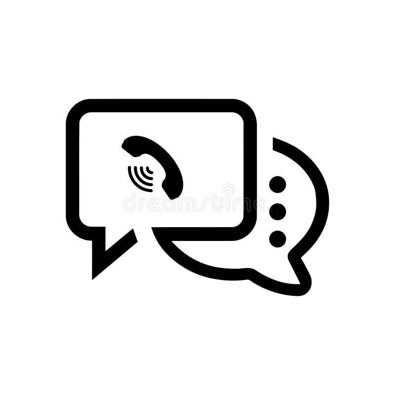 Het praatjepictogram, sms pictogram, praatje, bel, commentarenpictogram, mededeling, besprekingspictogram, vraag, groep sms, toes royalty-vrije illustratie