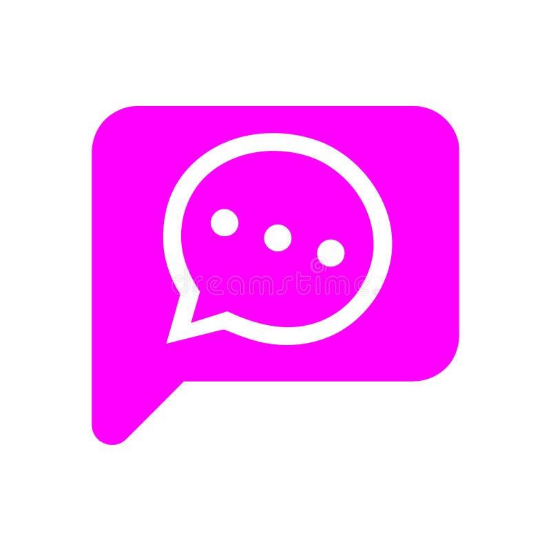 Het praatjepictogram, sms pictogram, praatje, bel, commentarenpictogram, mededeling, besprekingspictogram, vraag, groep sms, toes vector illustratie