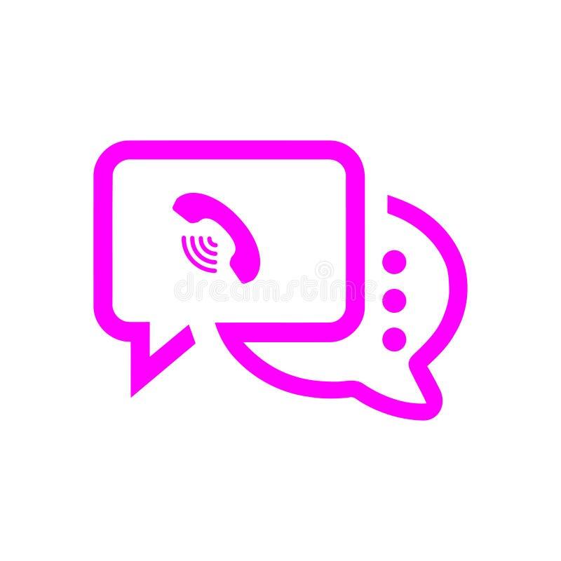 Het praatjepictogram, sms pictogram, praatje, bel, commentarenpictogram, mededeling, besprekingspictogram, vraag, groep sms, toes royalty-vrije stock foto's
