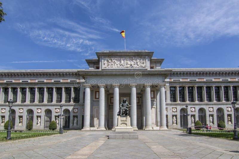 Het Prado-Museum in Madrid Spanje stock foto's