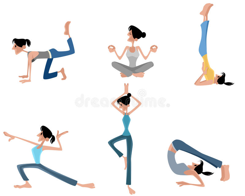 Het praktizeren van het meisje yoga vector illustratie