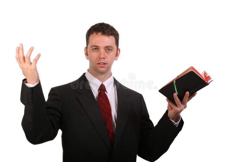 Het prediken van het Woord stock fotografie