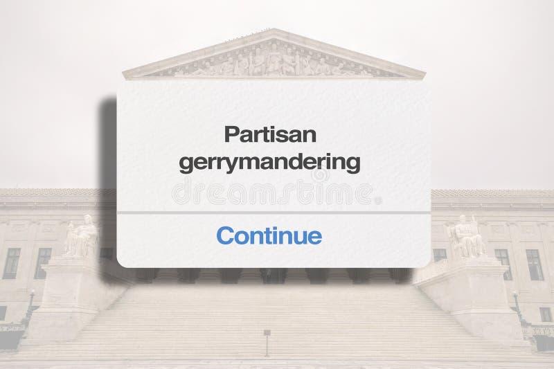 Het Premehof staat toe het strenge partij gerrymandering verdergaat stock fotografie