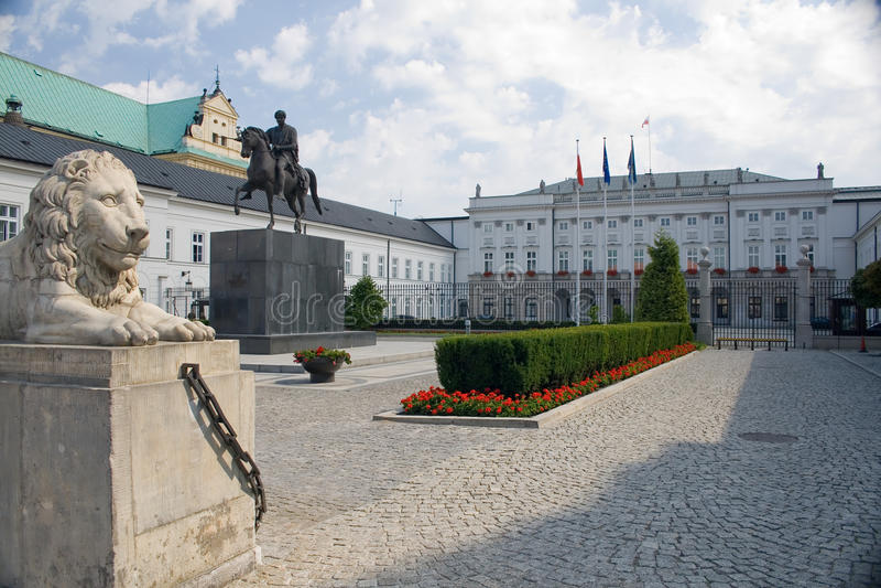 Het presidentiële Paleis - Warshau, Polen royalty-vrije stock foto