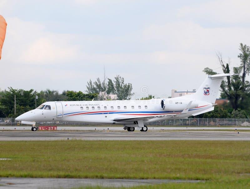 Het presidentiële vliegtuig van Panama royalty-vrije stock foto