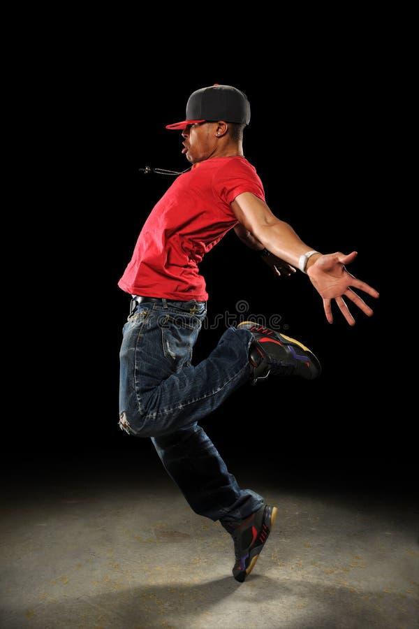 Het Presteren van de Danser van Hip Hop stock afbeelding