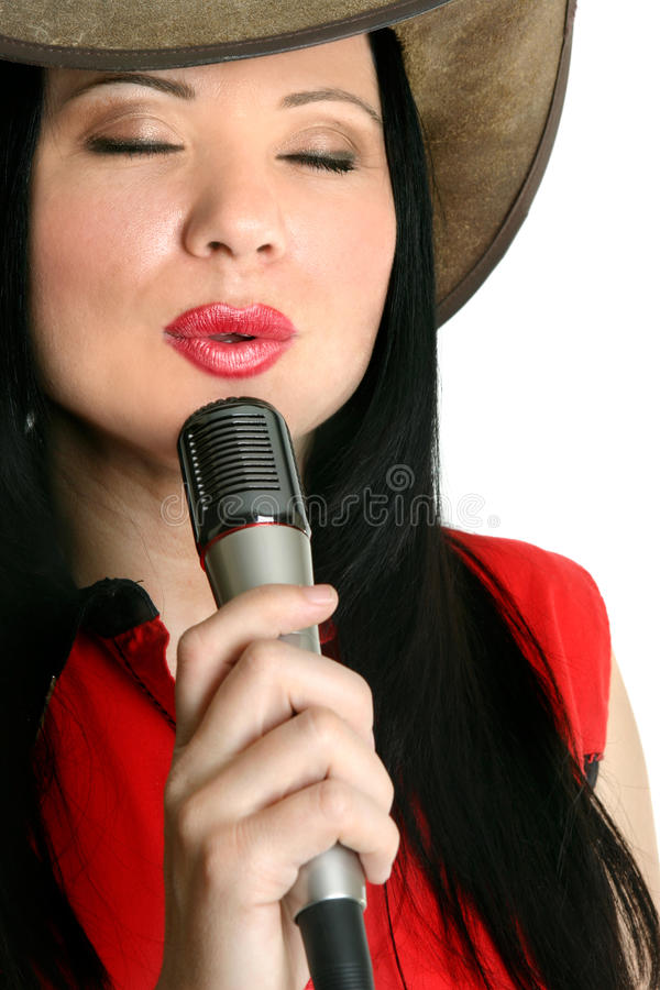 Het presteren van de zanger stock fotografie