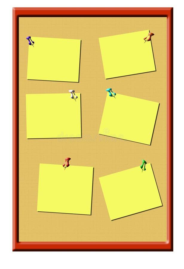 Het prikbord van  vector illustratie