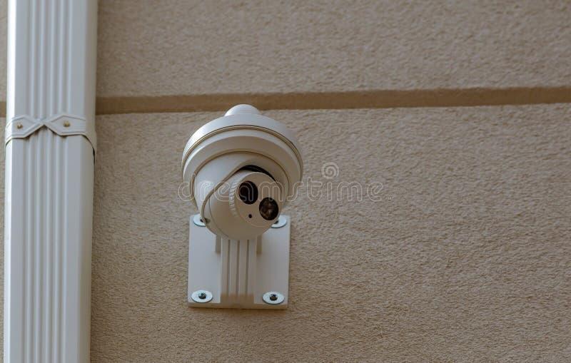 Het Privé-bezitbescherming van de veiligheidscamera stock afbeelding