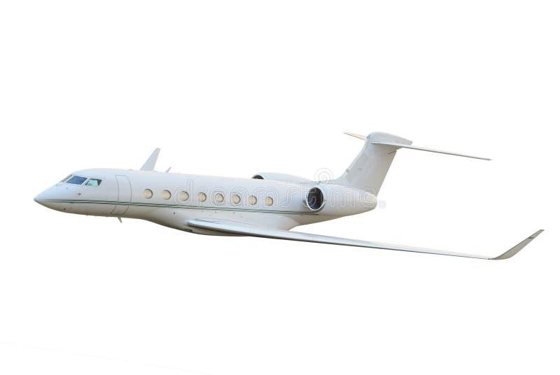 Het privé jet vliegen royalty-vrije stock afbeeldingen