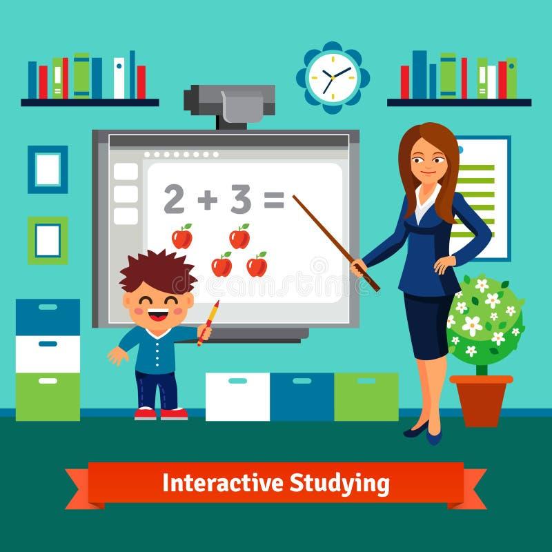 Het privé privé-leraar bestuderen stock illustratie