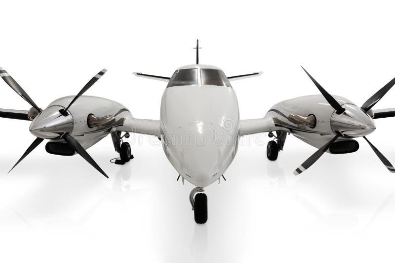Het privé StraalVliegtuig van de Propeller royalty-vrije stock afbeelding