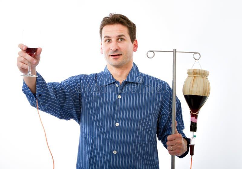 Het probleem van de alcohol in het gek ziekenhuis stock afbeeldingen