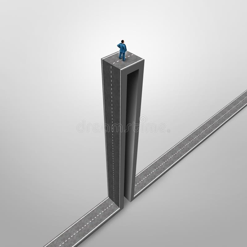 Het Probleem van de carrièrekans vector illustratie