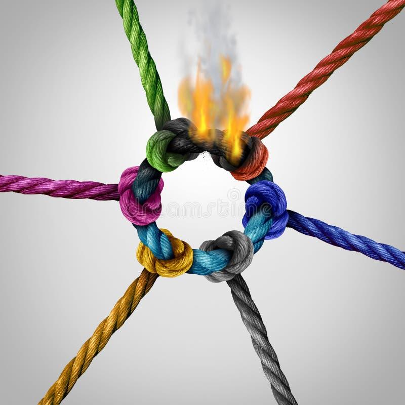 Het Probleem van de netwerkverbinding vector illustratie
