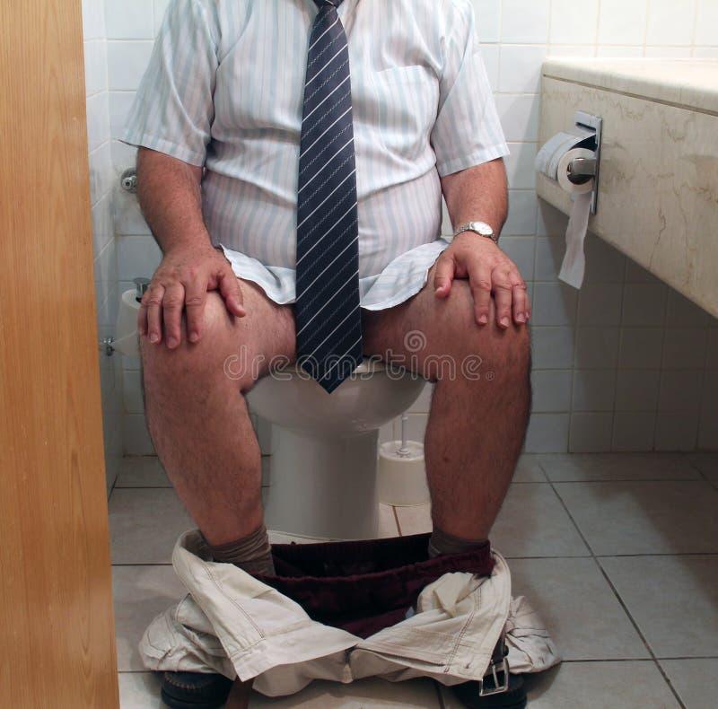 Het Probleem van het toilet stock foto's