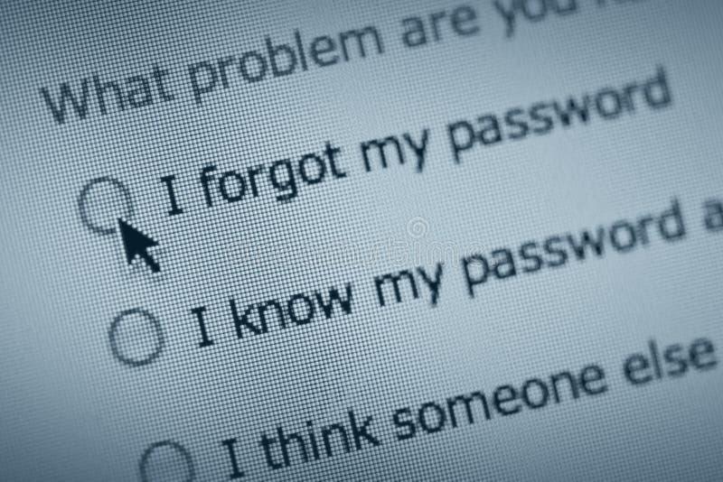 Het probleem van het wachtwoord royalty-vrije stock fotografie