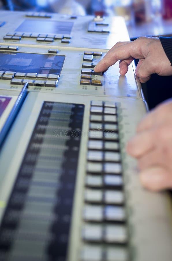 Het proces van compensatiedruk en kleurencorrectie stock foto