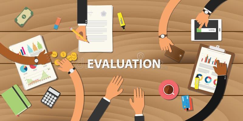 Het proces van de bedrijfsevaluatiebeoordeling stock illustratie